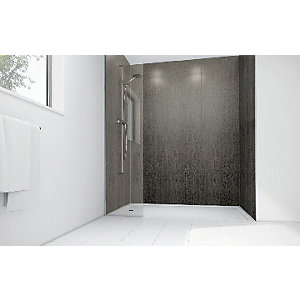 Mermaid Concrete Laminate 3 Sided Shower Panel Kit
