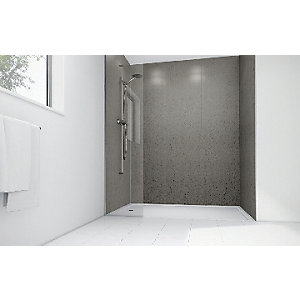 Mermaid Nickel Gloss Laminate 2 Sided Shower Panel Kit