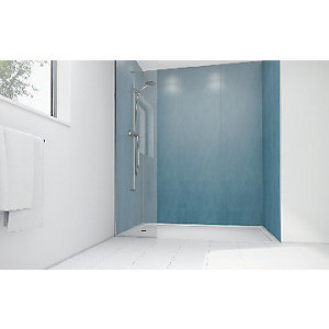 Mermaid Ocean Spray Laminate 3 Sided Shower Panel Kit