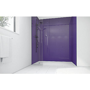 Mermaid Plum Acrylic 3 Sided Shower Panel Kit