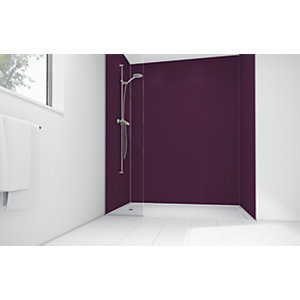 Mermaid Plum Matte Acrylic 3 Sided Shower Panel Kit