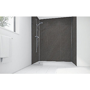Mermaid Solar Grey Laminate 3 Sided Shower Panel Kit