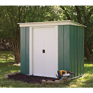 Rowlinson 6 x 4 ft Double Door Metal Pent Shed without Floor