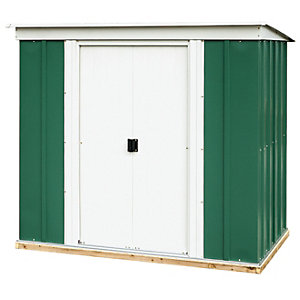 Rowlinson 6 x 4 ft Metal Pent Shed including Floor