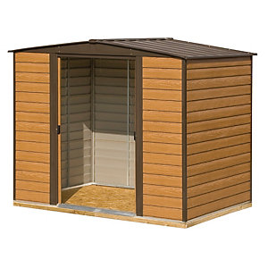 Rowlinson Woodvale 10 x 6ft Large Double Door Metal Apex Shed including Floor