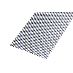 Wickes Perforated Steel Stretched Metal Sheet - 300 x 2.20mm x 1m