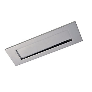 Wickes Letter Plate - Chrome 308 x 96mm