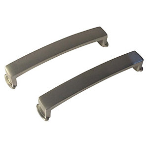 Wickes Ohio Handle Brushed Nickel - Pack of 2
