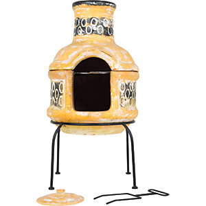 La Hacienda Circles 2 Piece Outdoor Chimenea