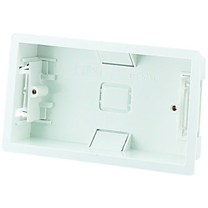 Wickes 2 Gang Dry Lining Box - White