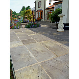 Marshalls Heritage Riven Old Yorkstone Paving Slab 600 x 600 x 38 mm - 7.92m2 pack