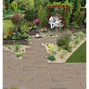 Marshalls Heritage Riven Weathered Yorkstone Paving Slab 600 x 600 x 38 mm - 7.92m2 pack