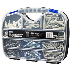 Self Drill Pozi Plasterboard Fixing Kit 300 Piece