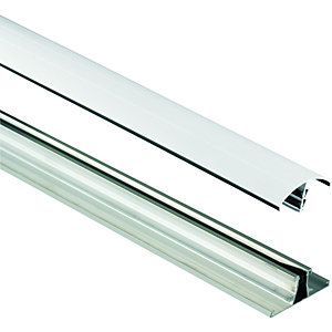 Wickes White Universal Glazing Bar for Polycarbonate Sheets - 2.5m