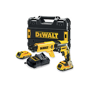 DEWALT DCF620D2 18V Xr Li-Ion Brushless Cordless Collated Drywall Screwdriver 2 x 2.0Ah, Charger and Kit Box