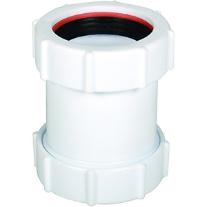 FloPlast WC08 Unicom Compression Waste Straight Coupler - 40mm