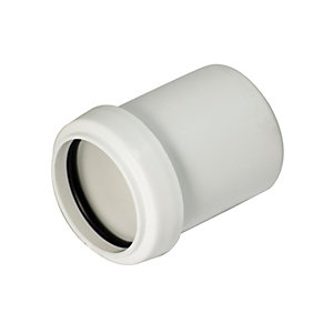 FloPlast WP38W Push-Fit Waste Reducer - White 40mm x 32mm