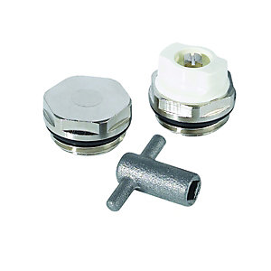 Wickes Radiator Key, Bleed Plug & Cap Plug