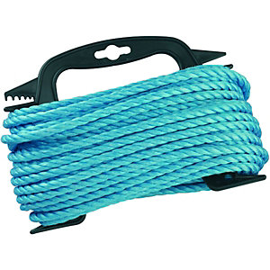 Wickes Blue 6mm Multi-fuctional Polypropylene Rope Length 20m