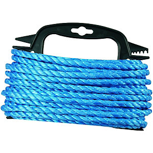 Wickes Blue 8mm Multi-fuctional Polypropylene Rope Length 15m