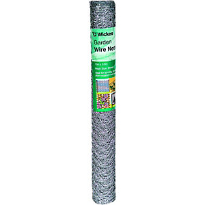 Wickes 25mm Galvanised Wire Netting - 600m x 10m