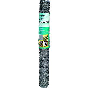 Wickes 50mm Galvanised Wire Netting - 600mm x 10m