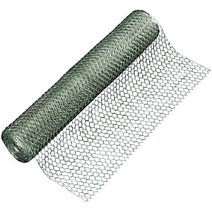 Wickes Galvanised 13mm Wire Netting - 600mm x 10m