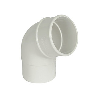 FloPlast 68mm Round Line Downpipe Offset Bend 112.5° - White