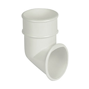 FloPlast 68mm Round Line Downpipe Shoe - White