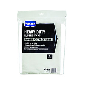 Wickes Heavy Duty Woven Bags - Pack of 5