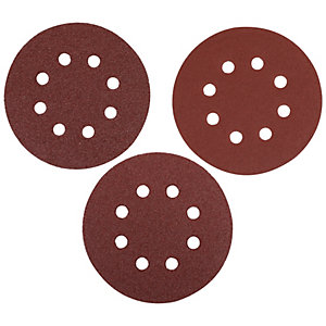 Wickes Assorted Eccentric Sander Discs - Pack of 10