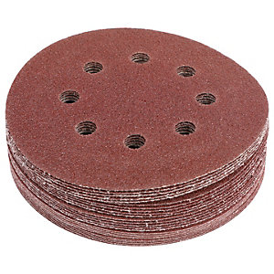 Wickes Assorted Eccentric Sander Discs - Pack of 25