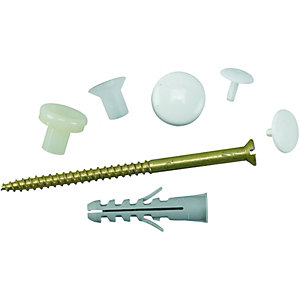 Fischer WB10 - WC Pan to Floor Vertical Fixing Set