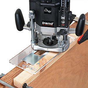 Trend Router Template Jig for Door Lock Recesses