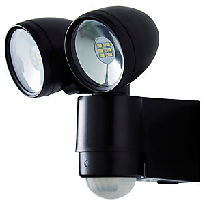 Sirocco LED PIR Twin Spot Light