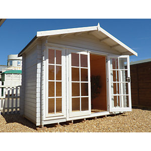 Shire 10 x 12 ft Epping Double Door Log Cabin