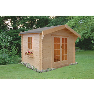 Shire 8 x 10 ft Dalby Traditional Double Door Log Cabin