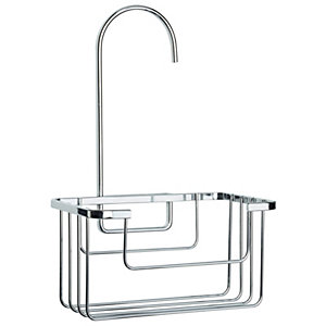 Croydex Rust Free Chrome Shower Caddy - 180mm