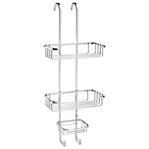 Croydex Rust Free Hook Over 3 Tier Chrome Shower Basket - 250mm
