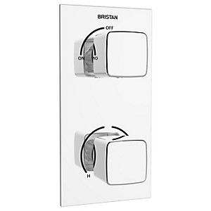 Bristan Cobalt Recessed Thermostatic Dual Control Shower Valve - Chrome