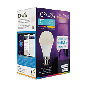 TCP Smart LED Colour Changing B22 Light Bulb - 9W