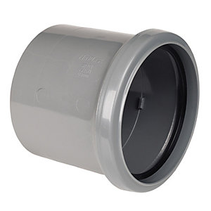 FloPlast SP124G Single Socket Coupling - Grey 110mm