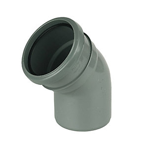 FloPlast SP163G Soil Pipe 135 Deg Bend - Grey 110mm