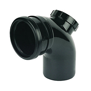 FloPlast SP169B Soil Pipe 92.5 Deg Access Bend - Black 110mm