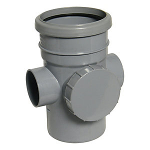 FloPlast SP274G Soil Access Pipe - Grey 110mm