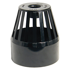 FloPlast SP302B Soil Pipe Vent Terminal - Black 110mm