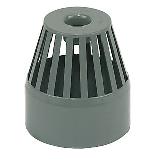 FloPlast SP302G Soil Pipe Vent Terminal - Grey 110mm
