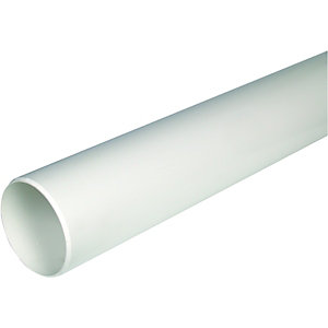 FloPlast SP8W Soil Pipe Single 1m - White 110mm