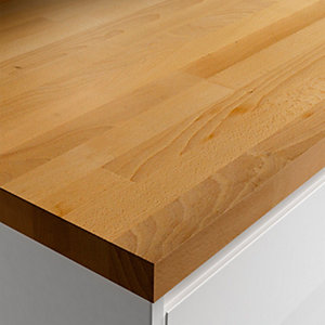 Wickes Solid Wood Breakfast Bar - Dark Beech 900 x 38mm x 2m