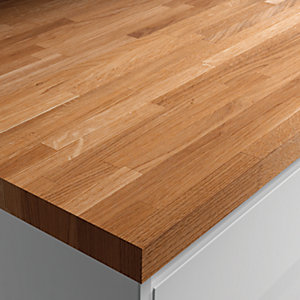 Wickes Solid Wood Worktop - Solid Oak 600mm x 26mm x 3m